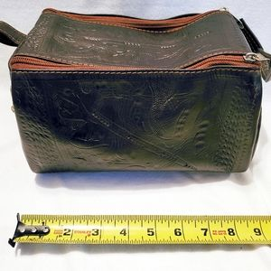Tooled Leather Travel Case